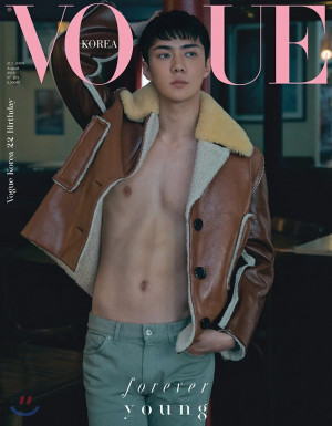 #EXO's Sehun will be in 4 covers of Vogue Korea magazine August issue