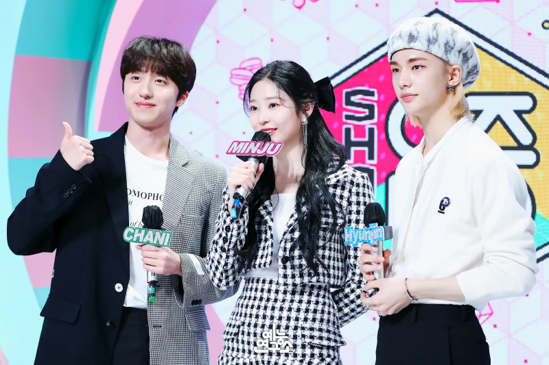 201128 Minju, Chani & Hyunjin hosting Music Core documents 1
