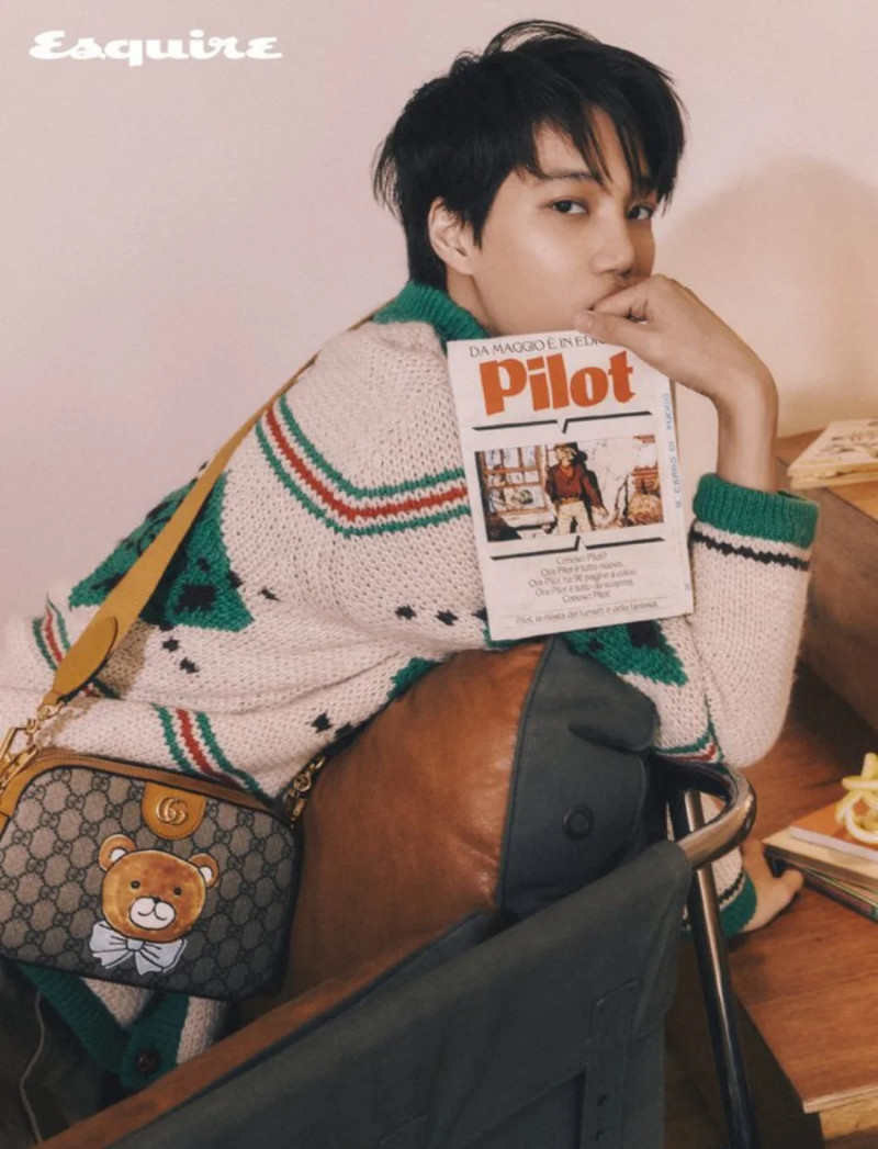 EXO KAI for Esquire Korea March 2021 Issue for Kai x Gucci Capsule Collection documents 6