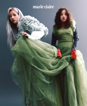 (G)I-DLE Soyeon & Yuqi for Marie Claire Korea Magazine January 2021 Issue