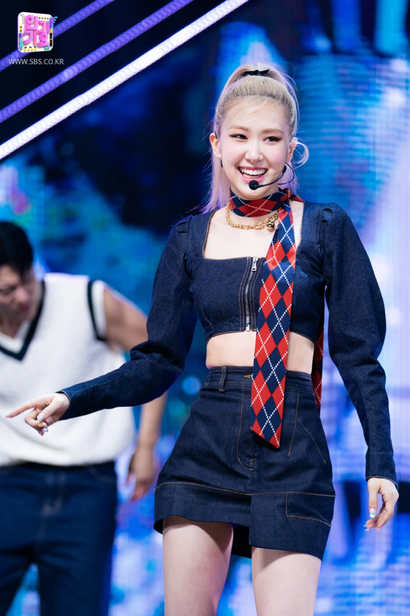 210328 Rosé - 'On The Ground' at Inkigayo documents 9